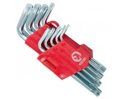 Набор Г-образных ключей TORX 9 шт, Т10-Т50, Cr-V, Small INTERTOOL HT-0607