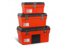 Комплект ящиков для инструментов с металлическим замком, 3 шт INTERTOOL BX-0006