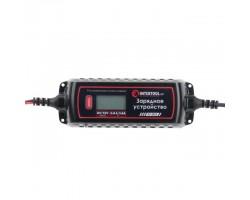 Зарядное устройство 6/12В, 0.8/3.8А, 230В, зимний режим зарядки, дисплей, максимальная емкость заряжаемого аккумулятора 1.2-120 а/ч INTERTOOL AT-3023