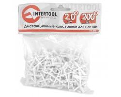 Набор дистанционных крестиков для плитки 2,0 мм / 200 шт INTERTOOL HT-0351