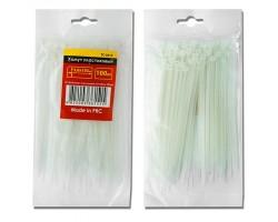 Хомут пластиковый 4,8x300 мм, (100 шт/упак), белый INTERTOOL TC-4830