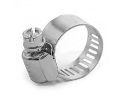 Хомут стальной оцинкованный 12,7 мм D 16-25 мм (упаковка 10 шт) INTERTOOL TC-0116