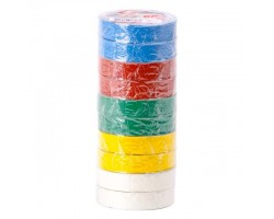 Лента изоляционная 0,15 мм x 17 мм x 20 м цветная (упаковка 10 шт) INTERTOOL IT-0024