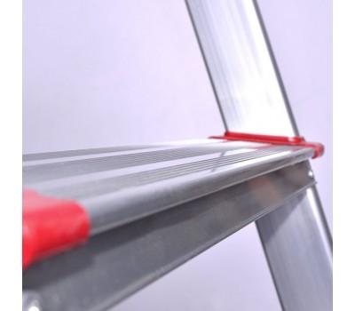 Стремянка алюминиевая 5 ступеней, высота до платформы 1065 мм INTERTOOL LT-1005