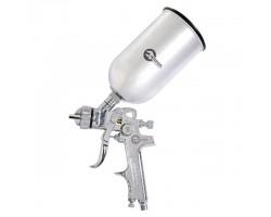 Пистолет покрасочный пневматический HVLP, форсунка 1,3 мм, В/Б, металл 1000 мл. 3,5-5 бар INTERTOOL PT-0107