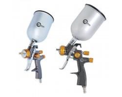 LVLP BRONZE NEW Профессиональный краскораспылитель 1,8 мм, верхний металлический бачок 600 мл., mах 1 INTERTOOL PT-0135