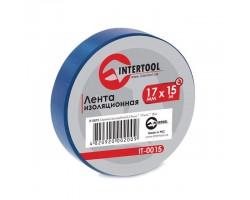 Лента изоляционная 0,15 мм x 17 мм x 15 м синяя INTERTOOL IT-0015