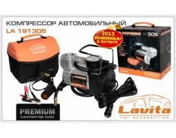 Компрессор LAVITA 12В, 15А, 10 атм, 37л/мин, прикуриватель, переходник на клеммы Premium-качество (LA 191305)