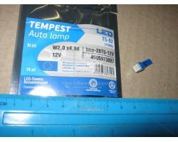 Лампа LED панель приборов, подсветки кнопок Т5-02 (1SMD) W2,0 х4,6d желтая 12V Tempest (tmp-33T5-12V)