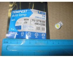 Лампа LED габарит и панель приборов T10 2SMD W5W 12V WHITE Tempest (tmp-10T10-12V)