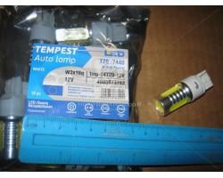 Лампа LED габарит, стоп T20 -7440 (4SMD) Mega-LED W3x16d 12V WHITE Tempest (tmp-04T20-12V)