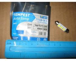 Лампа LED софитная C5W 24V T11x36-S8.5 (3 SMD size5050) Tempest (tmp-10T11-24V)