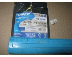Лампа LED габарит и панель приборов T10-5 SMD (size 5050) 24V WARM WHITE Tempest (tmp-03T10-24V)