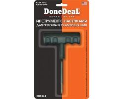 Инструмент с насечками для ремонта бескамерных шин
