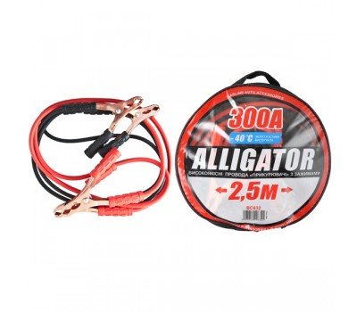 Провода-прикуриватели ALLIGATOR 300А, 2,5м, круглая сумка