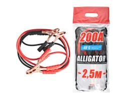 Провода-прикуриватели ALLIGATOR 200А, 2.5м, полиэтиленовый пакет