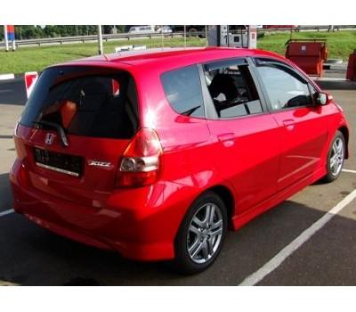 Дефлекторы окон (ветровики) Honda Jazz 2005-2008 темные 4 шт. EGR (92434006B)