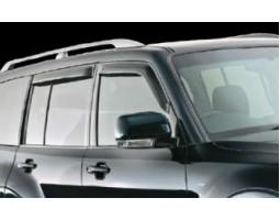 Дефлекторы окон (ветровики) Mitsubishi Pajero 2000- дымчатые передние 2 шт. EGR (91260022)