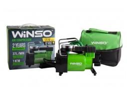 Компрессор автомобильный WINSO 7 Атм, 37 л/мин, 170Вт, кабель 3м, шланг 1м, пласт.накладка (122000)