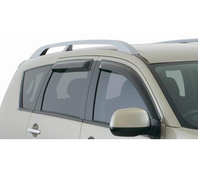 Дефлекторы окон (ветровики) Mitsubishi Outlander 2007-2011 дымчатые 4 шт. EGR (91460029B)