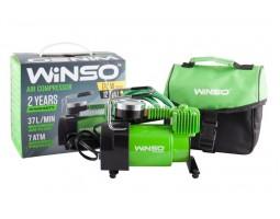 Компрессор автомобильный WINSO 7 Атм, 37 л/мин, 170Вт, кабель 3м, шланг 1м, метал.накладка (123000)