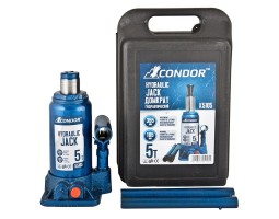 Домкрат гидравлический бутылочный CONDOR 2т пластик (K5102)