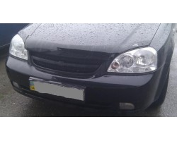 Дефлектор капота (мухобойка) Chevrolet Lacetti седан 2003- темный с логотипом EGR (BRE7111DS)