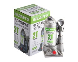 Домкрат гидравлический (бутылочный) БЕЛАВТО 2т высота подъема 148-278 мм (DB02)