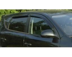 Дефлекторы окон (ветровики) Hyundai I30 2007-2011 темные 4 шт. Autoclover (AC A102)