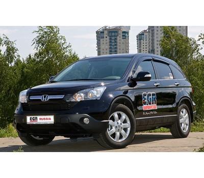 Дефлектор капота (мухобойка) Honda CRV 2010-2011 темный с логотипом EGR (013071L)
