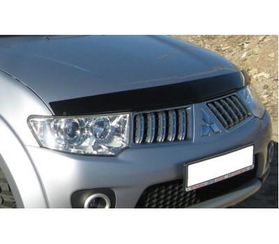 Дефлектор капота (мухобойка) Mitsubishi Pajero Sport 2009- темный EGR (26181)