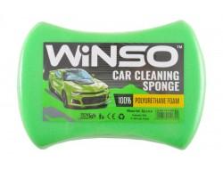Губка WINSO для мытья авто, с мелкими порами 200*140*60мм, зеленая (151300)