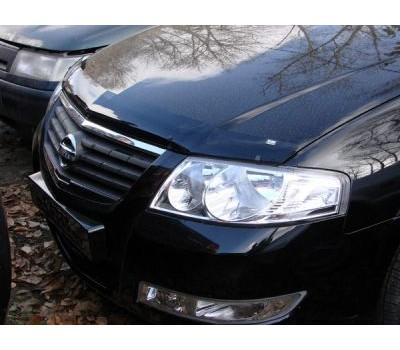 Дефлектор капота (мухобойка) Nissan Almera 2006-2013 темный с логотипом EGR (BRE3463DS)