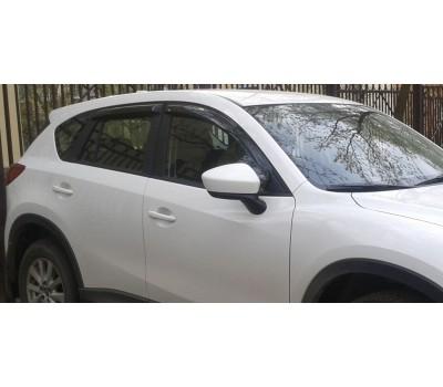 Дефлекторы окон (ветровики) Mazda CX-5 2012- темные 4 шт. EGR (92450030B)