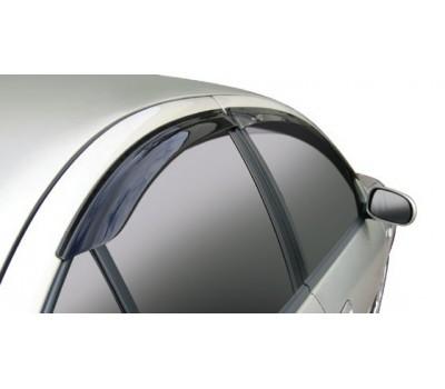 Дефлекторы окон (ветровики) Chevrolet Lacetti хэтчбек 2003- темные 4 шт. Autoclover (AC A079)
