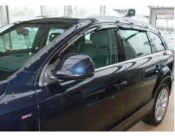 Дефлекторы окон (ветровики) Audi Q7 2005- темные 4 шт. EGR (92404006B)