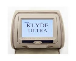 Подголовник с монитором и DVD-проигрывателем KLYDE Ultra 747 HD Beige (бежевый)