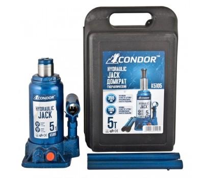 Домкрат гидравлический бутылочный CONDOR 5т картон (K5005)
