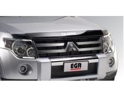 Дефлектор капота (мухобойка) Mitsubishi Pajero 2007- темный EGR (026131)