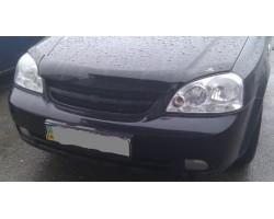 Дефлектор капота (мухобойка) Chevrolet Lacetti хэтчбек 2003- темный с логотипом EGR (BRE7113DS)