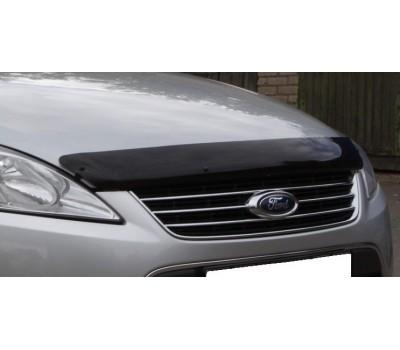 Дефлектор капота (мухобойка) Ford Mondeo 2011- темный с логотипом EGR (SG4938DSL)