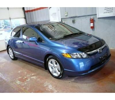 Дефлектор капота (мухобойка) Honda Civic седан 2006-2011 темный с логотипом EGR (SG6531DSL)