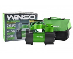 Компрессор автомобильный WINSO 7 Атм, 35 л/мин,150Вт, LED-фонарь, подсветка манометра (128000)