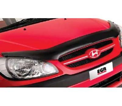 Дефлектор капота (мухобойка) Hyundai Getz 2005-2008 темный с логотипом EGR (SG3528DSL)