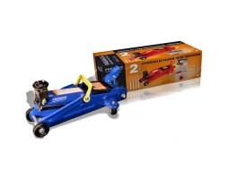 Домкрат гидравлический LAVITA подкатной 3т 130-410 мм синий поворотная ручка упаковка - картон (LA FJ-04)