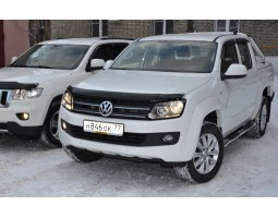 Защита фар Volkswagen Amarok 2010- прозрачная EGR (224040)