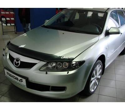 Дефлектор капота (мухобойка) Mazda 6 2002-2007 темный EGR (SG3744DS)
