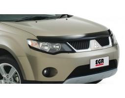 Дефлектор капота (мухобойка) Mitsubishi Outlander 2007-2011 темный EGR (026141)