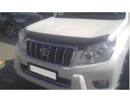 Дефлектор капота (мухобойка) Toyota Land Cruiser Prado 150 2009- темный с логотипом EGR (039291L)