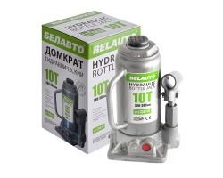 Домкрат гидравлический (бутылочный) БЕЛАВТО 10т высота подъема 200-385 мм (DB10)
